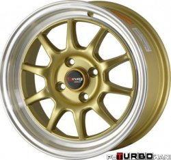 Drag Wheels DR16 Gold 17x7 4x100 ET40