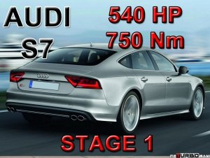 Audi S7 STAGE 1 - 540 HP / 750 Nm PAKIET MOCY