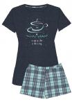 MUZZY piżama damska TEA krótkie spodenki