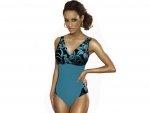 Kostium kąpielowy CAPRI K1 Kwiaty na Blue R: