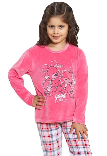 VIENETTA Dziewczęca VELUROWA Piżama 3MISIE