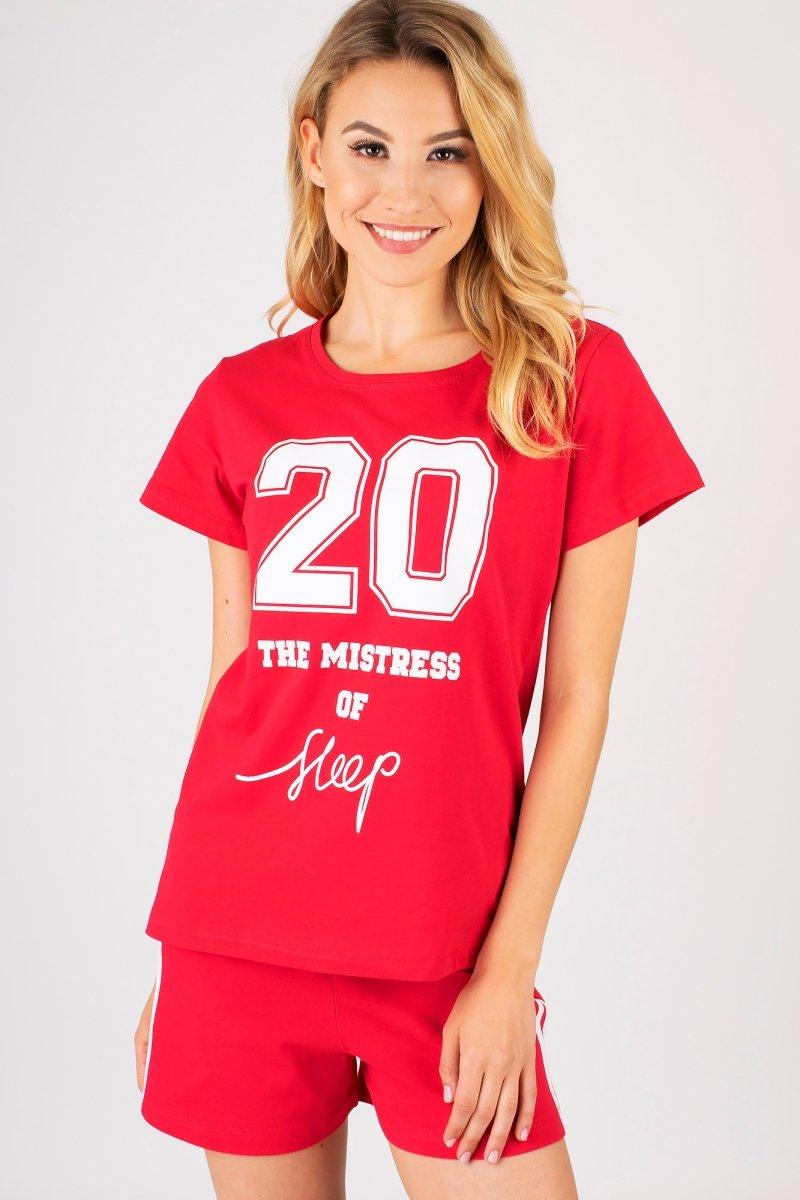 MUZZY  Piżama Damska Twenty Red R: