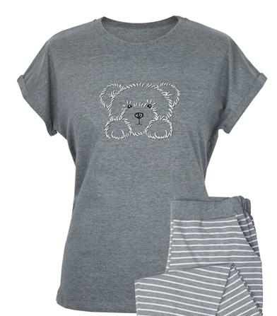 MUZZY piżama damska PSIAK krótkie spodenki