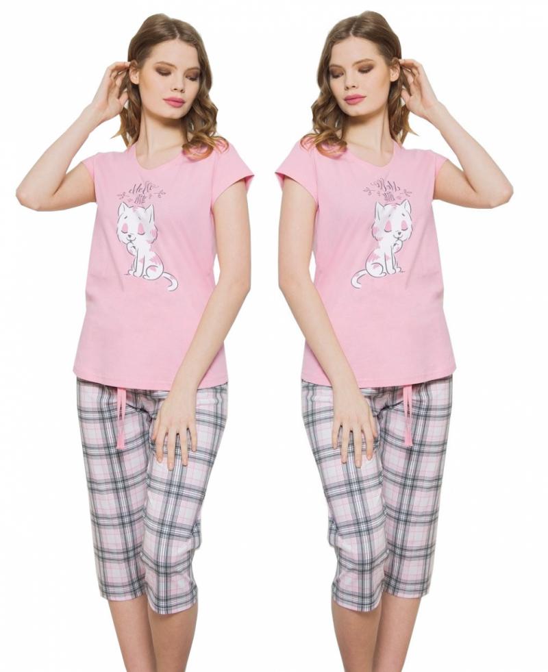 VIENETTA Piżama 3/4 LITTLE róż R: