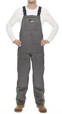 WELDAS- Arc Knight® 38-4380 ogrodniczki spawalnicze, wysokiej odporności trudnopalna bawełna 520 gr./m2 (M,L,XL)