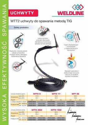 Uchwyt spawalniczy TIG WTT2 26 EB S-4m (przycisk)