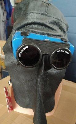 Kaptur spawalniczy skórzany (przyłbica) filtry fi 50