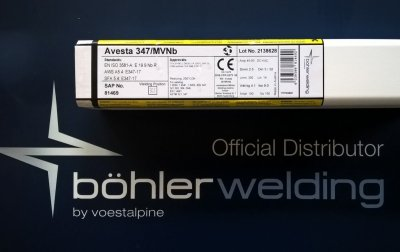 Elektroda spawalnicza AVESTA 347/MVNB 2,5x350 (4,1 kg)