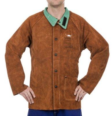 WELDAS-LAVA BROWN skórzana kurtka spawalnicza z dwoiny bydlęcej 44-7300 L