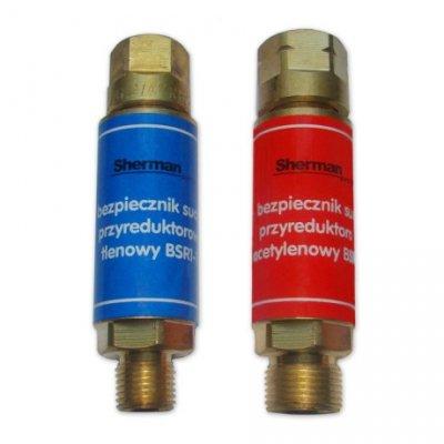 Bezpiecznik gazowy przyreduktorowy - tlen