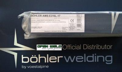Elektroda BOHLER AWS E 316L-17 2,5x300 (4 kg.)