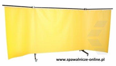 PARAWAN SPAWALNICZY REGULAR Z KURTYNAMI ZBROJONYMI 4050x1900 mm (szer x wys)  Z RAMIONAMI 950 mm