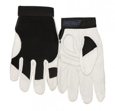 WELDAS-Mechaniczna rękawica robocza z licowej skóry koziej z elastycznym materiałem Spandex na grzbiecie 10-2670