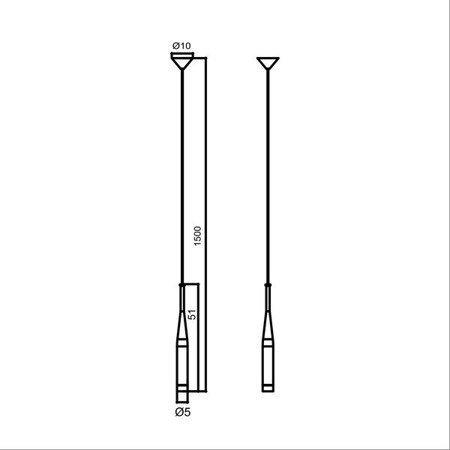 LAMPA WEWNĘTRZNA (WISZĄCA) ZUMA LINE CONTE PENDANT MD1998-1GL Zuma Line