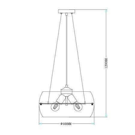 LAMPA WEWNĘTRZNA (WISZĄCA) ZUMA LINE MERANO RLD931031-3 Zuma Line