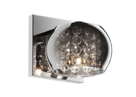 LAMPA KINKIET ZUMA LINE CRYSTAL WALL W0076-01A-B5FZ
