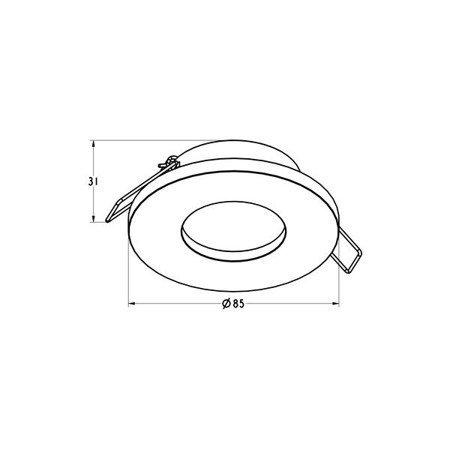 LAMPA WEWNĘTRZNA (SPOT) IP54 ZUMA LINE CHIPA DL SPOT ARGU10-033
