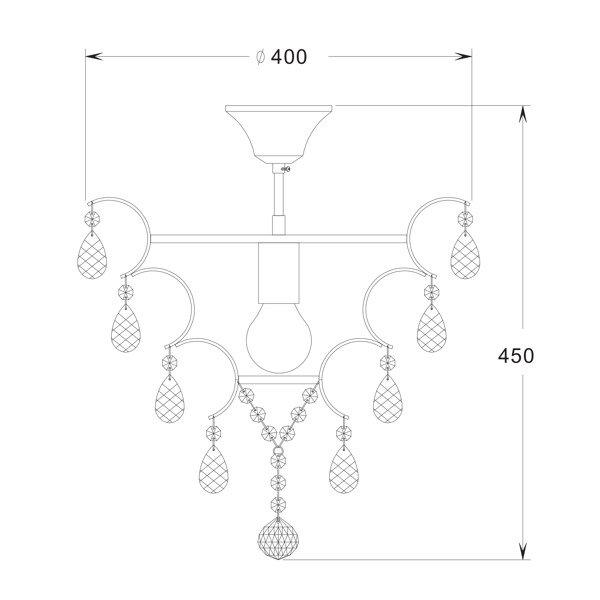 LAMPA WEWNĘTRZNA (SUFITOWA) ZUMA LINE FUSION CEILING RLX93410-1  Zuma Line