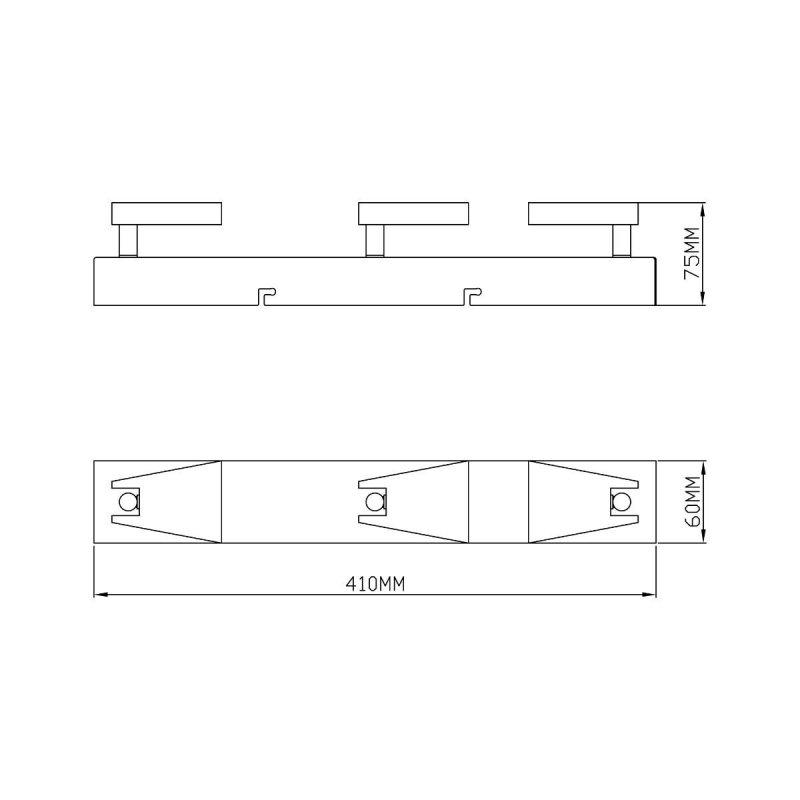 Lampa sufitowa SPAZIO CK99603A-3B Zuma Line