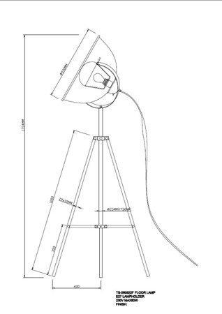 LAMPA WEWNĘTRZNA (PODŁOGOWA) ZUMA LINE ANTENNE FLOOR TS-090522F-WHGO (BIAŁY/WHITE)