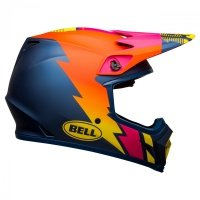 KASK BELL MX-9 MIPS STRIKE MATTE BLUE/ORANGE/PINK XL
