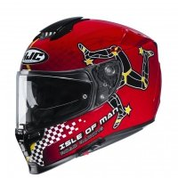 KASK HJC R-PHA-70 ISLE OF MAN IOM TT BLACK/RED S