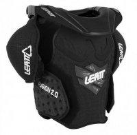 Leatt Fusion Vest 2.0 Junior ochraniacz klatki piersiowej z ochraniaczem szyi dziecięcy czarny