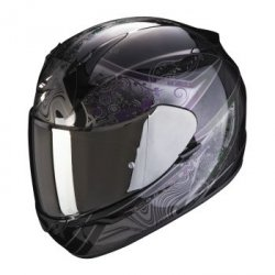 SCORPION KASK MOTOCYKLOWY EXO-390 CLARA BLACK-SILVER