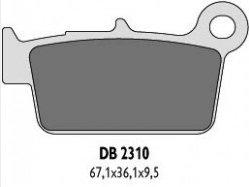 Delta Braking KAWASAKI 250 KXF(04-13) klocki hamulcowe tył
