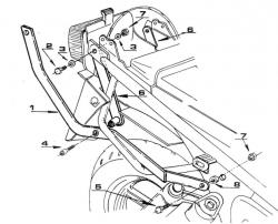 KAPPA K2320 stelaż kufra centralnego Honda CB 750 Seven Fifty (92 - 00)