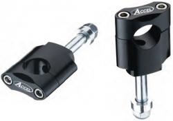 Accel mocowanie kierownicy 22,2mm wysokość 45mm ze śrubą M12 - srebrny