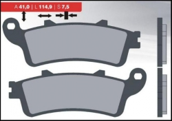 Brenta klocki hamulcowe złote przód Honda VTX 1800 (02-10)