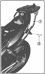 KAPPA K4400 stelaż kufra centralnego Kawasaki ER 5 (01-07)