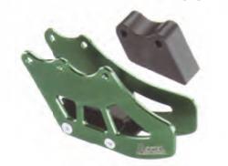 Accel prowadnica łańcucha - Kawasaki KX 250F/450F (06-10) - zielony, złoty