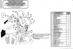 KAPPA mocowanie szyby Yamaha XV 650 Dragstar Classic