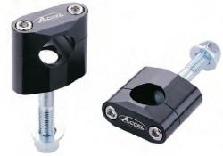 Accel mocowanie kierownicy 28,6mm wysokość 34mm ze śrubą M12 - czarny