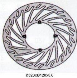 Tarcza hamulcowa przednia Husqvarna WRE 125 (00-)