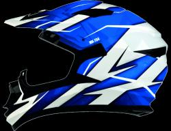 Shiro MX-734 kask motocyklowy enduro biało-niebieski r. S
