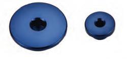 Accel korki inspekcyjne silnika - Yamaha YZ 400/426/450F (98-05) - niebieski
