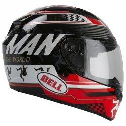 BELL QUALIFIER KASK MOTOCYKLOWY DLX ISLE OF MAN BLACK/RED