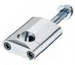 Accel mocowanie kierownicy 22,2mm wysokość 58,5mm ze śrubą M12 - srebrny