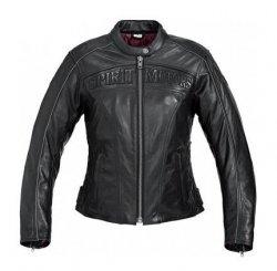 POLO Spirit Motors Flame 2 damska kurtka motocyklowa skórzana czarna