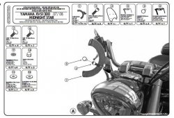 KAPPA mocowanie szyby Yamaha XVS 1300 MIDNIGHT STAR