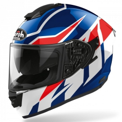 KASK AIROH ST501 FROST BLUE/RED GLOSS L
