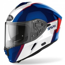 KASK AIROH SPARK FLOW BLUE/RED GLOSS L
