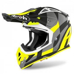 KASK AIROH AVIATOR ACE TRICK YELLOW MATT XL