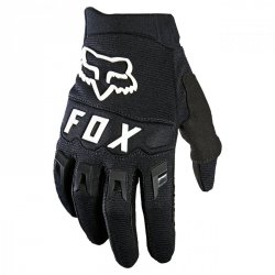 RĘKAWICE FOX JUNIOR DIRTPAW BLACK/WHITE YS