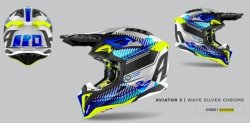 KASK AIROH AVIATOR 3 WAVE SILVER GLOSS M