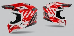 KASK AIROH AVIATOR 3 RAMPAGE RED GLOSS L