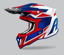 KASK AIROH STRYCKER AXE BLUE/RED GLOSS XS